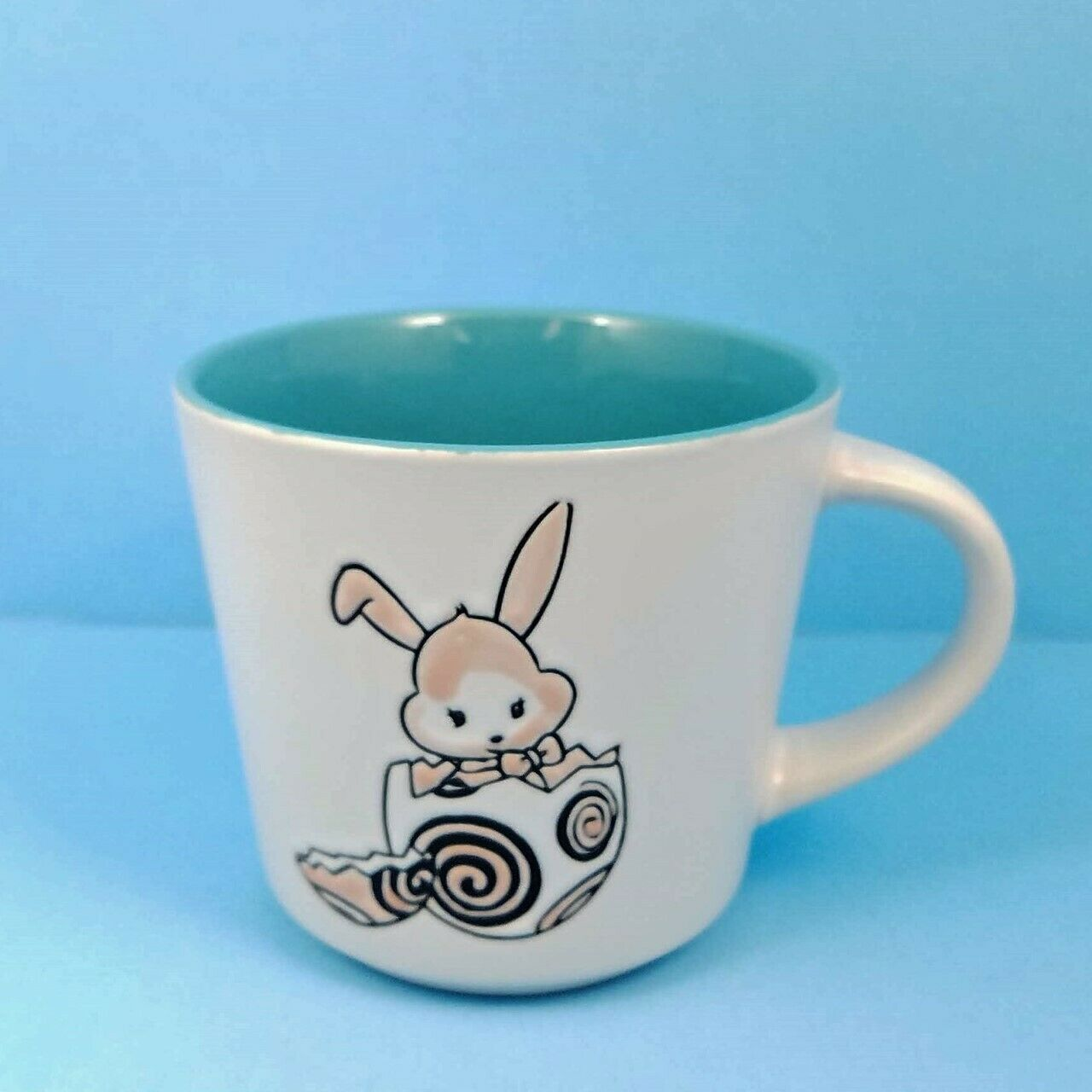Coffee Mug Cup Your Choice of Color Spring Bunny by Blue Sky Spectrum 14oz
