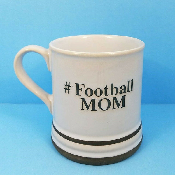 Football Mom Coffee Mug Cup Pen Pencil Holder by Blue Sky Spectrum 17oz Hashtag