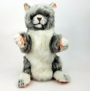Jacquard Cat Full Body Hand Puppet by Hansa Realistic Look Animal Learning Toy