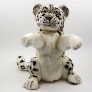 Snow Leopard Hand Puppet by Hansa True to Life Soft Plush Animal Learning Toy