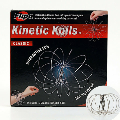 Kinetic Koils Spring Flow Ring Multi Sensory by Flipo Interactive Fun - Silver