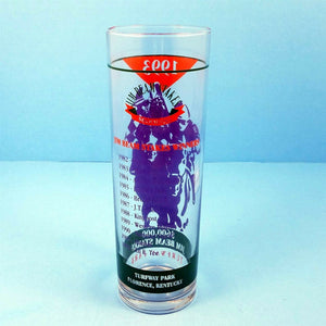 1993 Turfway Park Jim Beam Stakes Race Bar Glass Winner Lil E Pat Day Florence