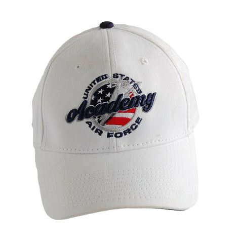 US Air Force Academy White Ball Cap 5 Panel Hat Adjustable