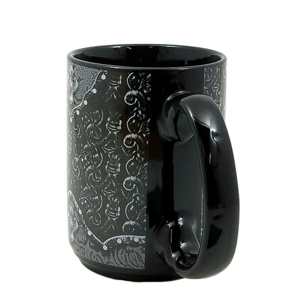 Western Moments Cowboy Cowgirl Coffee Mug Ceramic Tooled Cross Black 16oz New
