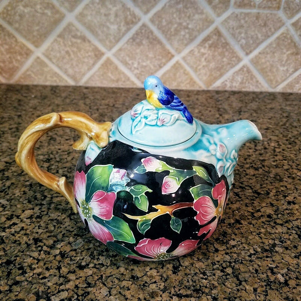 Ceramic Dogwood Teapot