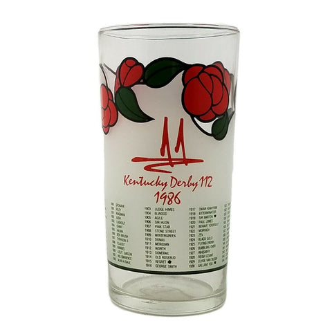 1986 Kentucky Derby 112 Mint Julep Beverage Glass, Winner Was Ferdinand