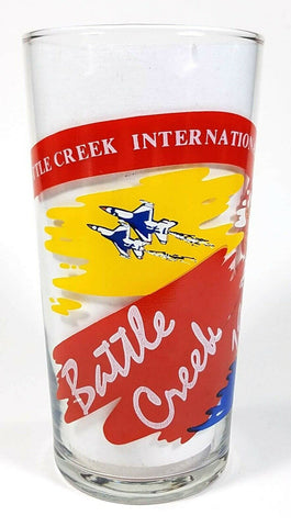 Hot Air Balloon 1990 Battle Creek International Championship Beverage Glass