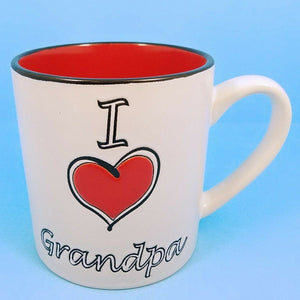 Coffee Mug I Love Grandpa Ceramic Beverage Cup 21oz Spectrum Pen Pencil Holder