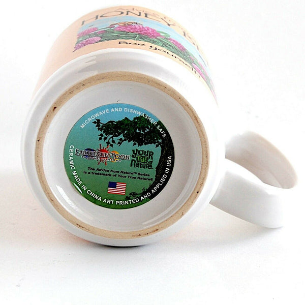 Honey Bee Coffee Mug Beverage Cup Kitchen Home Décor Earth Sun Moon Trading Co