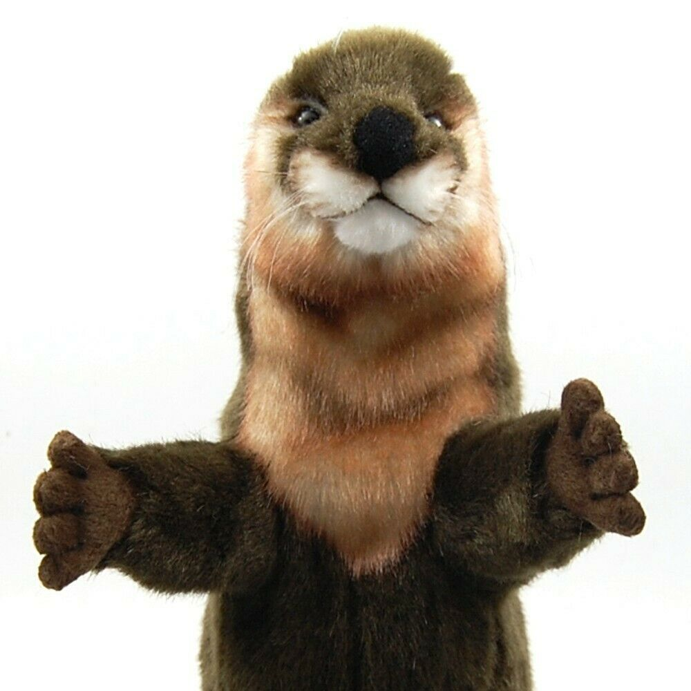 Otter Hand Puppet by Hansa True to Life Look Soft Plush Animal Learning Toys