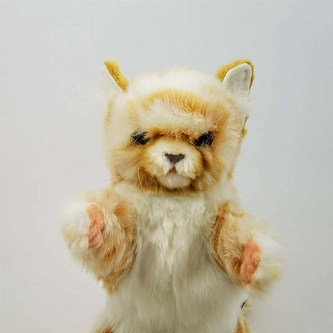 Ginger Cat Full Body Hand Puppet by Hansa Realistic Look Animal Learning Toys