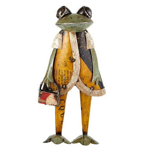Reclaimed Iron Frog with Bag