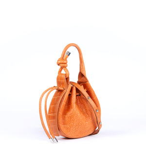 Ina Mini Crossbody Croc Tangerine