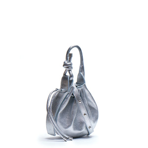 Ina Mini Crossbody Pebble Metallic Silver