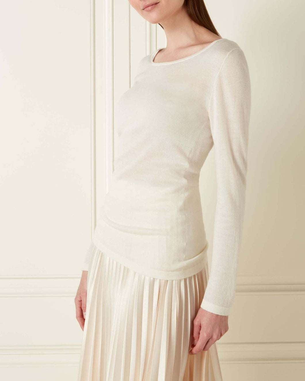 Superfine Long Sleeve Cashmere Top