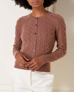 Cable Cashmere Cardigan