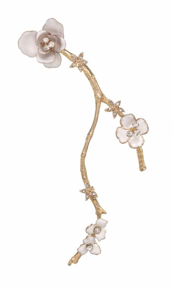 Blossom Branch Ear Cuff – Right Side