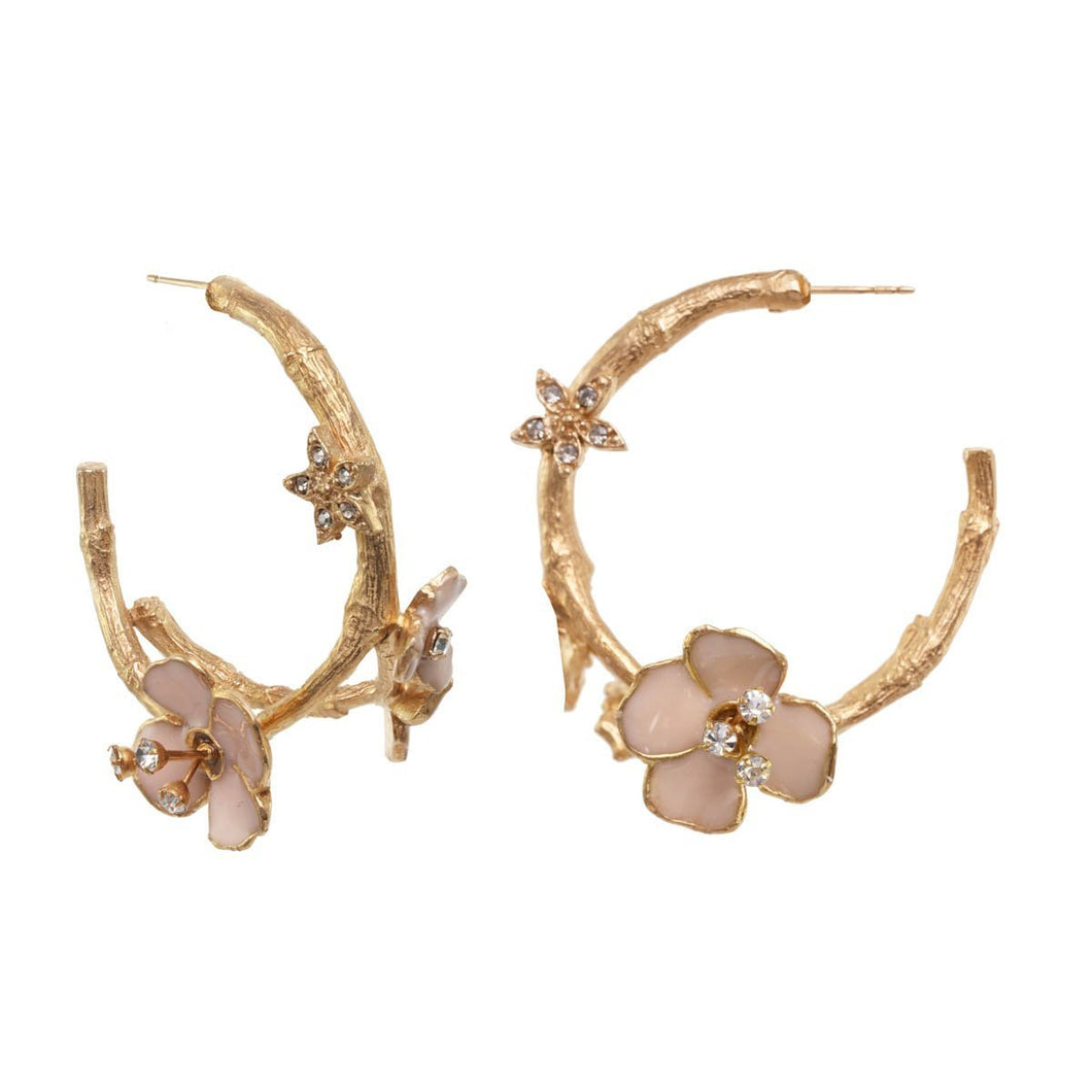 The Blossom Hoop Earrings