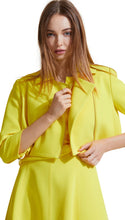 Load image into Gallery viewer, Cropped Moto Jacket in Lemon