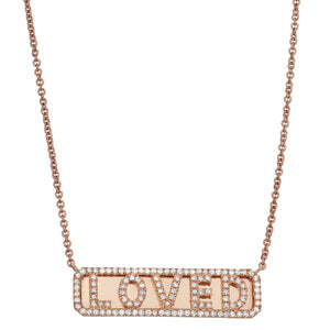 'Loved' ID Necklace