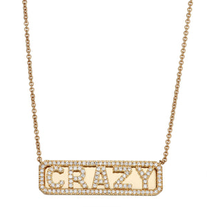 'Crazy' ID Necklace