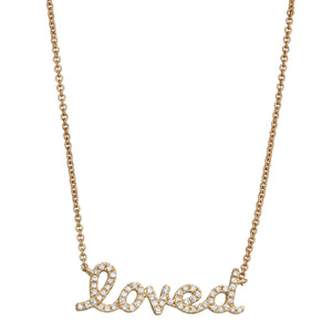'Loved' Message Necklace