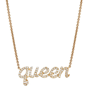 'Queen' Message Necklace