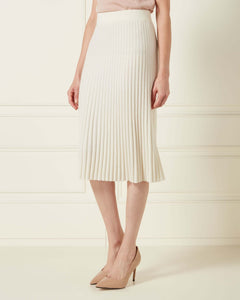 Ribbed Cashmere Skirt