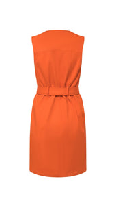 Moto Mini Dress in Tangerine