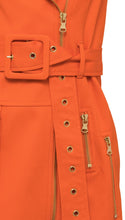 Load image into Gallery viewer, Moto Mini Dress in Tangerine