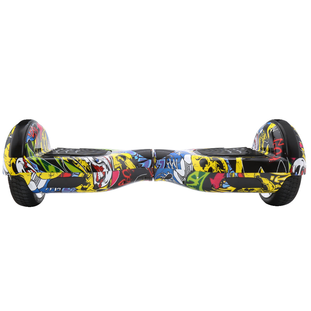 Graffiti X3 | 6.5 Inch Hoverboard With Bluetooth and LED Light - Dancing Yellow