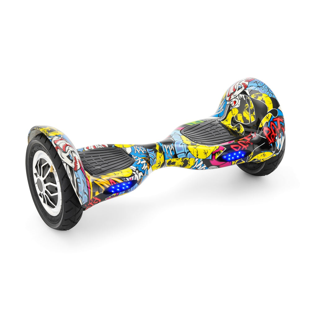 Graffiti X3 | 10 Inch Hoverboard With Bluetooth Remote  Bag - Dancing Yellow