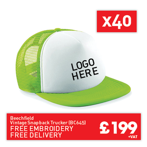 40 Beechfield Vintage snapback trucker for Only £199 (BC645)