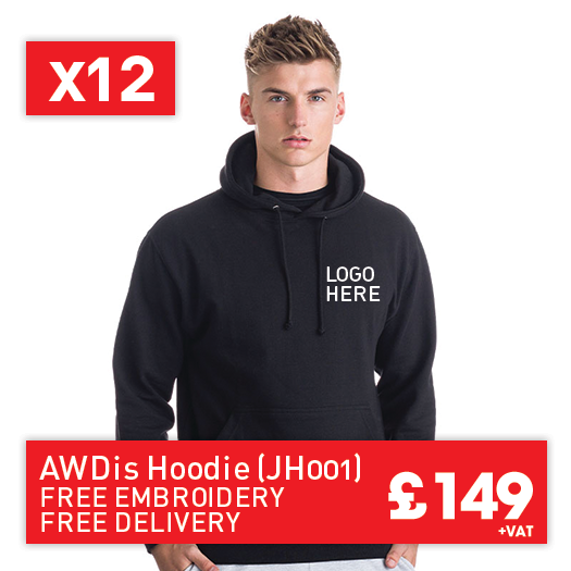 12 JustHoods College hoodie for Only £149 (JH001)