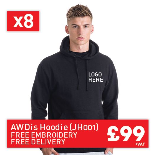 8 JustHoods College hoodie for Only £99 (JH001)