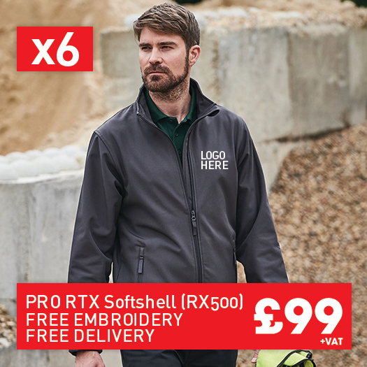 6 RTX Pro 2-layer softshell for Only £99 (RX500)