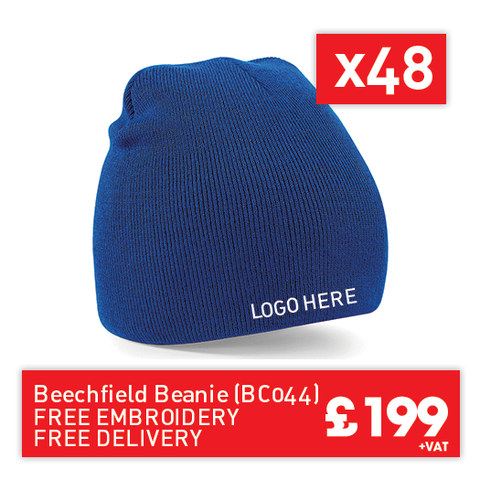 48 Beechfield Two-tone pull-on beanie for Only £199 (BC044)