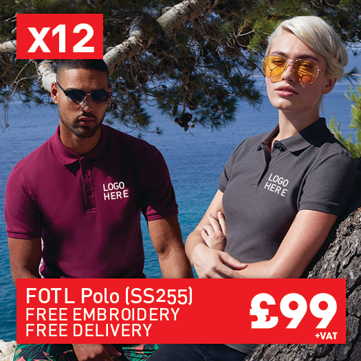 12 FRUIT LOOM Premium polo for Only £99 (SS255)