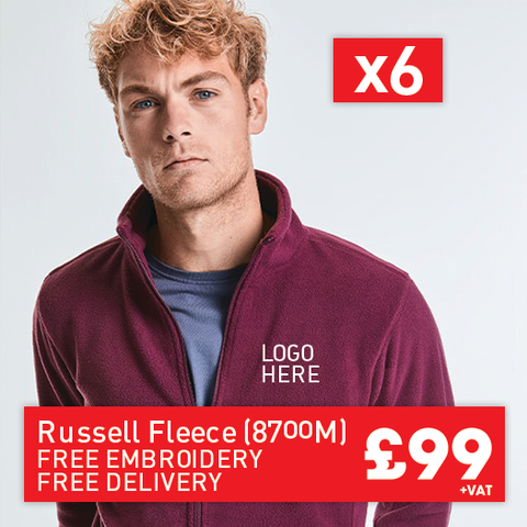 6 Russell Full Zip Micro fleece Jackets for Only £99 (8700 M)