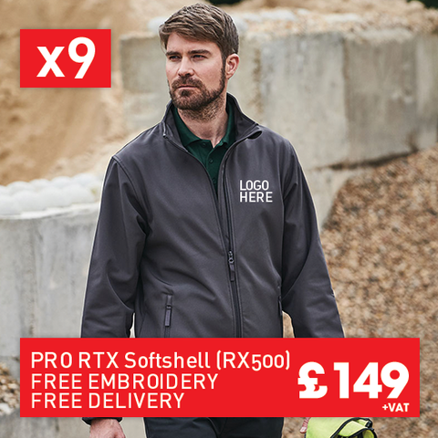 9 RTX Pro 2-layer softshell for Only £149 (RX500)