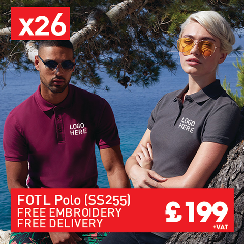 26 FRUIT LOOM Premium polo for Only £199 (SS255)