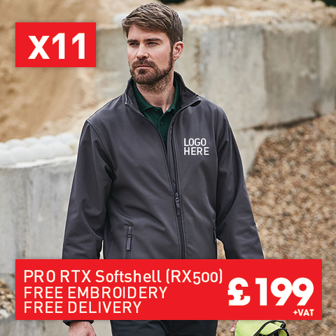 11 RTX Pro 2-layer softshell for Only £199 (RX500)