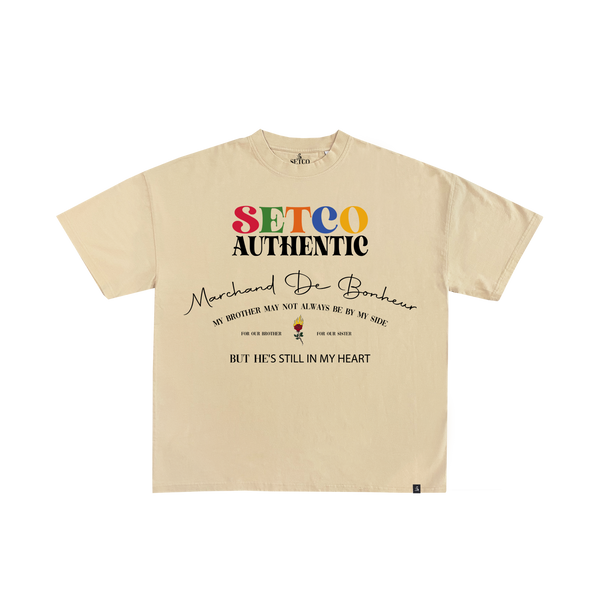 T-SHIRT BROTHER - BEIGE