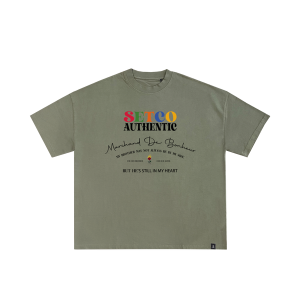 T-SHIRT BROTHER - OLIVE