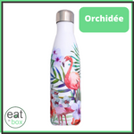 bouteille isotherme inox orchidee