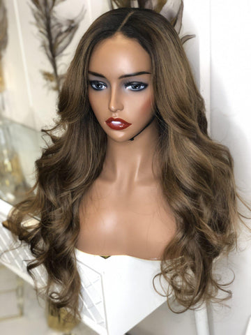 Frontal Wig-MOE(Custom Colored HD glueless Wig)