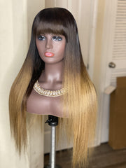 "24"" Custom colored bob frontal wig - MEM Beauty Wigs"