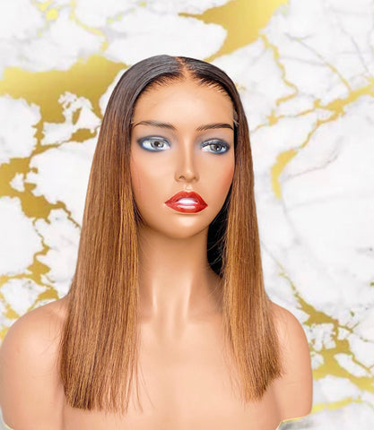 "14"" Custom colored 5x5 HD closure wig - MEM Beauty Wigs"