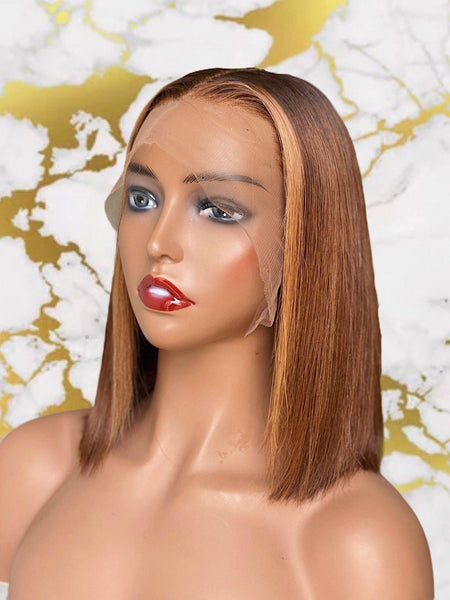 "10"" Custom colored bob - MEM Beauty Wigs"