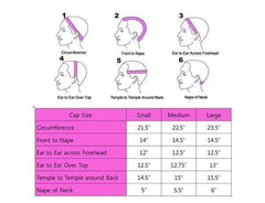 Custom Wig Cap Size Chart - M.E.M Beauty Wigs Houston